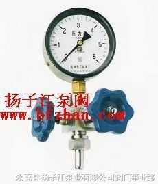 针型阀.仪表阀:J19H-16-320仪表针型阀(含压力表)